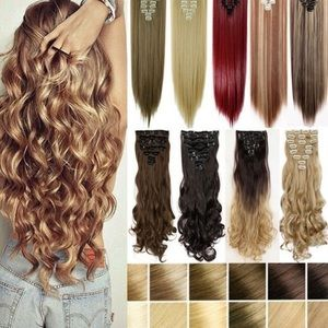 """🔺24"""" CURLY FULL HEAD CLIP IN EXTENSIONS *NWT*"""